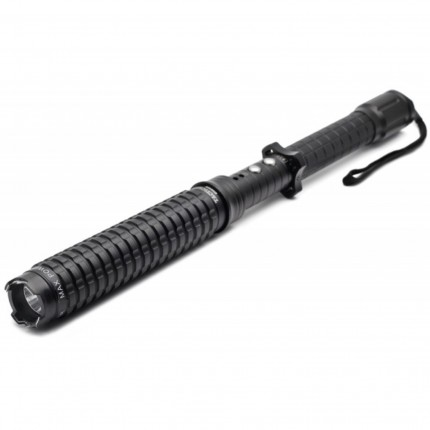 CHEETAH Expandable Stun Baton With LED Flashlight - Rechargeable