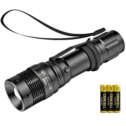 NAVIGATOR 1181 Metal LED Flashlight with Adjustable Focus and 3 Light Modes - Battery Included