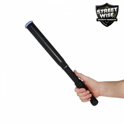 Streetwise™ Lightning Rod 7M Stun GUN Baton With LED Flashlight - Rechargeable