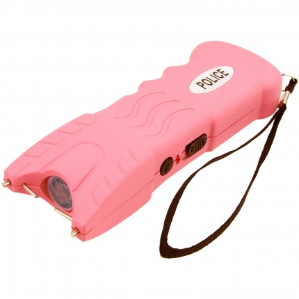POLICE 916 - 53 Billion Stun Gun - Rechargeable with Safety Disable Pin LED Flashlight, Pink