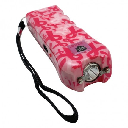 Streetwise Ladies' Choice Stun Gun Rechargeable With LED Flashlight Pink Ribbon