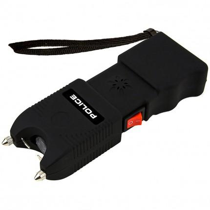 POLICE Stun Gun TW10 - 58 Billion Heavy Duty Rechargeable With Siren Alarm & LED Flashlight