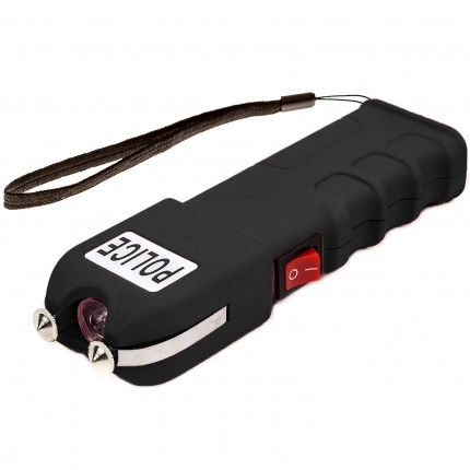 POLICE 928 - 58 Billion Heavy Duty Stun Gun - Rechargeable with LED Flashlight